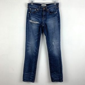 Madewell Distressed Slim Boyjean Denim Jeans | 25